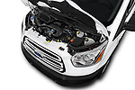Car stock 2019 Ford Transit Wagon 350 XLT Wagon Low Roof 60/40 Pass. 148WB 5 Door Passenger Van engine high angle detail view
