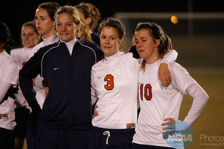 06 DEC 2008:  Messiah College takes on Wheaton College during the Division III Women's Soccer Championship held at Macpherson Stadium at Bryan Park in Greensboro, NC.  Jamie Schwaberow/NCAA Photos