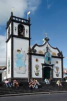 geschmückte KircheSenhora dos  Milagros in Arrifes bei Ponta Delgada auf der Insel Sao Miguel, Azoren, Portugal