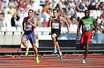 (l to r) Mihail DUDAŠ (SRB), Thomas VAN DER PLAETSEN (BEL) and Kurt FELIX (GRN) in the mens decathlon 100m. IAAF world athletics championships. London Olympic stadium. Queen Elizabeth Olympic park. Stratford. London. UK. 11/08/2017. ~ MANDATORY CREDIT Garry Bowden/SIPPA - NO UNAUTHORISED USE - +44 7837 394578