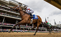 LOUISVILLE, KY - MAY 04: Mia Mischief #3 with Ricardo Santana wins the Eight Belles Stakes at Churchill Downs on May 4, 2018 in Louisville, Kentucky. (Photo by Alex Evers/Eclipse Sportswire/Getty Images)