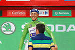 Matteo Trentin (ITA) Quick-Step Floors wins Stage 10 and takes back the points Green Jersey of the 2017 La Vuelta, running 164.8km from Caravaca A&ntilde;o Jubilar 2017 to ElPozo Alimentaci&oacute;n, Spain. 29th August 2017.<br /> Picture: Unipublic/&copy;photogomezsport | Cyclefile<br /> <br /> <br /> All photos usage must carry mandatory copyright credit (&copy; Cyclefile | Unipublic/&copy;photogomezsport)