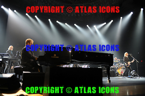 ESTERO FL - MARCH 09: Elton John and Davey Johnstone perform on the Wonderful Crazy Night Tour at The Germain Arena on March 9, 2016 in Estero, Florida. Photo by Larry Marano © 2016
