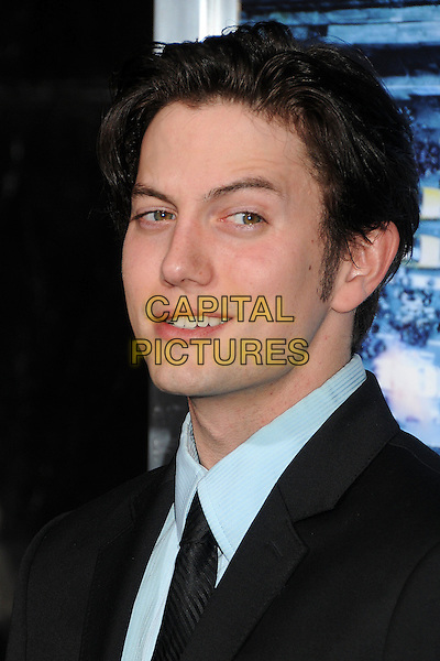 Jackson Rathbone.L.A. Premiere of  'Man on a Ledge' held at The Grauman's Chinese Theatre in Hollywood, California, USA..January 23rd, 2012 .headshot portrait black blue tie.CAP/ADM/BP.©Byron Purvis/AdMedia/Capital Pictures.
