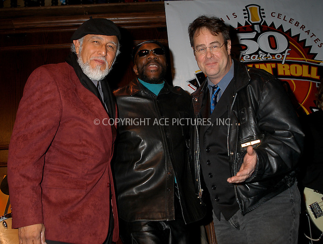"Memphis Celebrates ""50 Years of Rock and Roll"" -- NYC Kick-Off. New York, January 21, 2004. PICTURED:  (L to R) Sam the Sham, Isaac Hayes and Dan Akroyd. Please byline: AJ SOKLANER/NY Photo Press.   ..*PAY-PER-USE*      ....NY Photo Press:  ..phone (646) 267-6913;   ..e-mail: info@nyphotopress.com"
