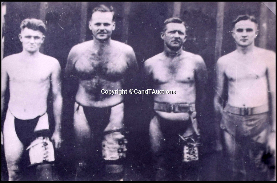 BNPS.co.uk (01202 558833)Pic: CandTAuctions/BNPS<br /> <br /> The disembodied British prisoners of war pose for a picture<br /> <br /> Shocking photographs showing the skeletal state of British PoWs in Japan after they were liberated at the end of the Second World War have been unearthed.<br /> <br /> Hundreds of emaciated servicemen who had been starved and brutally beaten by their captors were found by Allied troops following the fall of Japan in 1945.<br /> <br /> Photographers were brought in to take pictures of the PoWs to be used as evidence for any potential war crimes trial.<br /> <br /> The images show gaunt and haggard men whose bodies have been reduced to skin and bone.<br /> <br /> There are also images of showing some of the most sadistic Japanese guards including the notorious camp commandment Lieutenant Usuki, who was known as the Black Prince.