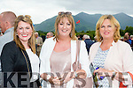 Delia and Michelle Keane with Helen Walsh all Knocknagoshel at Killarney races on Monday evening ahead of Eagle Spirit 15/8 and Brids of prey 16-1