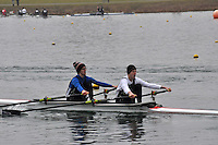 015 EveshamRC J18A.2x..Marlow Regatta Committee Thames Valley Trial Head. 1900m at Dorney Lake/Eton College Rowing Centre, Dorney, Buckinghamshire. Sunday 29 January 2012. Run over three divisions.