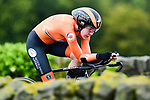 Anna Van Der Breggen of The Netherlands in action during the Women's Elite Individual Time Trial of the UCI World Championships 2019 running 30.3km from Ripon to Harrogate, England. 24th September 2019.<br /> Picture: Alex Broadway/SWPix.com | Cyclefile<br /> <br /> All photos usage must carry mandatory copyright credit (© Cyclefile | Alex Broadway/SWPix.com)