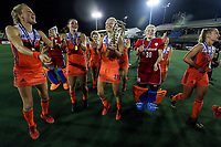 The Netherlands celebrate the 3-0 win during the World Hockey League final between the Netherlands and New Zealand. North Harbour Hockey Stadium, Auckland, New Zealand. Sunday 26 November 2017. Photo:Simon Watts / www.bwmedia.co.nz
