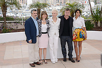 """Luciano Monteaguido, Sylvie Pras, Leila Bekhti, Tonie Marshall and Tim Roth attending the """"Jury Un Certain Regard"""" Photocall during the 65th annual International Cannes Film Festival in Cannes, France, 19th May 2012...Credit: Timm/face to face /MediaPunch Inc. ***FOR USA ONLY***"""