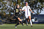 21 October 2012: Iowa's Cloe Lacasse (CAN) (20) and Northwestern's Margo McGinty (12). The Northwestern University Wildcats played the University of Iowa Hawkeyes at Lakeside Field in Evanston, Illinois in a 2012 NCAA Division I Women's Soccer game. Northwestern won the game 1-0.
