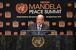 Opening Plenary Meeting of the Nelson Mandela Peace Summit<br /> <br /> His Excellency Abdelkader MESSAHELMinister for Foreign Affairs of Algeria