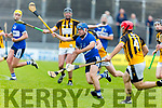 St Brendan's Tom Moloney eyes firmly on the sliotar as he is on the attack against Abbeydorney in the Senior Hurling Championship 1st round game in Austin Stack Park on Saturday
