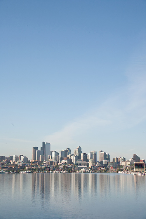 Seattle, skyline, Lake Union, South Lake Union, waterfront, Washington State, United States,<br />