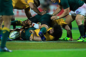 9th September 2017, nib Stadium, Perth, Australia; Supersport Rugby Championship, Australia versus South Africa; Tatafu Polota-Nau of the Australian Wallabies releases the ball during play in the second half