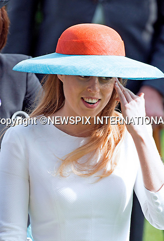 18.06.2015; Ascot, UK: ROYAL ASCOT LADIES DAY 2015 - PRINCESS BEATRICE<br /> attends Ladies Day of the Royal Ascot Race Meeting.<br /> Mandatory Photo Credit: &copy;Dias/NEWSPIX INTERNATIONAL<br /> <br /> **ALL FEES PAYABLE TO: &quot;NEWSPIX INTERNATIONAL&quot;**<br /> <br /> PHOTO CREDIT MANDATORY!!: NEWSPIX INTERNATIONAL(Failure to credit will incur a surcharge of 100% of reproduction fees)<br /> <br /> IMMEDIATE CONFIRMATION OF USAGE REQUIRED:<br /> Newspix International, 31 Chinnery Hill, Bishop's Stortford, ENGLAND CM23 3PS<br /> Tel:+441279 324672  ; Fax: +441279656877<br /> Mobile:  0777568 1153<br /> e-mail: info@newspixinternational.co.uk