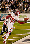 November 10, 2012: Fresno State Bulldogs receiver Davante Adams attemps a one-handed catch against the Nevada Wolf Pack during their NCAA football game played at Mackay Stadium on Saturday night in Reno, Nevada.