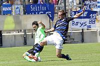 Selcuk Alibaz (KSC) gegen Manuel Konrad (FSV)  - 21.07.2013: FSV Frankfurt vs. Karlsruher SC, Frankfurter Volksbank Stadion