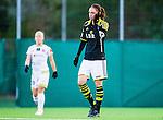Solna 2015-10-11 Fotboll Damallsvenskan AIK - FC Roseng&aring;rd :  <br /> AIK:s Petra Andersson deppar under matchen mellan AIK och FC Roseng&aring;rd <br /> (Foto: Kenta J&ouml;nsson) Nyckelord:  Damallsvenskan Allsvenskan Dam Damer Damfotboll Skytteholm Skytteholms IP AIK Gnaget  FC Roseng&aring;rd depp besviken besvikelse sorg ledsen deppig nedst&auml;md uppgiven sad disappointment disappointed dejected