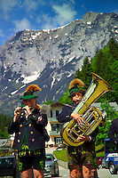 Berchtesgaden, Bavaria, Germany, May 2006. Every opportunity to dress up and play music is used in the village of Ramsau. The beauty of berchtesgadener Land lies in the spectacular mountain landscapes, combined with age old traditions and a welcoming culture. Photo by Frits Meyst/Adventure4ever.com