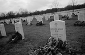 Arlington, Virginia.USA.January 30, 2007..The graves of over 300+ fallen US soldiers from the war in Iraq buried in Arlington National Cemetery. ....