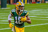 Green Bay Packers wide receiver Randall Cobb (18) during a preseason football game against the Philadelphia Eagles on August 10, 2017 at Lambeau Field in Green Bay, Wisconsin. Green Bay defeated Philadelphia 24-9.  (Brad Krause/Krause Sports Photography)