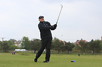 John Parrott (AM) playing with Paul Dunne (IRL) on the 10th tee during the Pro-Am of the Betfred British Masters 2019 at Hillside Golf Club, Southport, Lancashire, England. 08/05/19<br /> <br /> Picture: Thos Caffrey / Golffile<br /> <br /> All photos usage must carry mandatory copyright credit (© Golffile | Thos Caffrey)