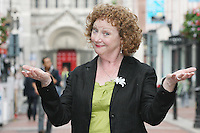 NO REPRO FEE 21/7/2010. Little Gem.   Anita Reeves cast of Little Gem is pictured in  Dublin at the launch of Guna Nua's hit Little Gem set to sparkle in the Olympia Theatre for ten performances only. Hilda Fay makes her return as Lorraine, Anita Reeves continues in the role of Kay, and Genevieve Hulme-Beaman takes on the role of Amber. After sell-out seasons in New York, London and Paris and a sold-out 7-week run at Ireland's National Theatre, Gúna Nua is bringing its bittersweet comedy Little Gem back to Dublin for 10 shows only at The Olympia Theatre from August 26 to September 4, 2010. Love, sex, birth, death, dildos and salsa classes: Elaine Murphy's award winning Little Gem sees three generations of Dublin women on a wild and constantly surprising journey. Picture James Horan/Collins Photos