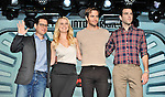 "J.J. Abrams, Alice Eve, Chris Pine, Zachary Quinto, Aug 13, 2013 : Tokyo, Japan : (L-R) Producer J.J. Abrams, actros Alice Eve, Chris Pine and Zachary Quinto attend the press conference for ""Star Trek Into Darkness"" in Tokyo, Japan, on August 13, 2013."