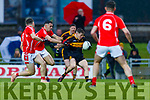 Michael Potts, Dr Crokes in action against Mike Foley, East Kerry  during the Kerry County Senior Club Football Championship Final match between East Kerry and Dr. Crokes at Austin Stack Park in Tralee, Kerry.