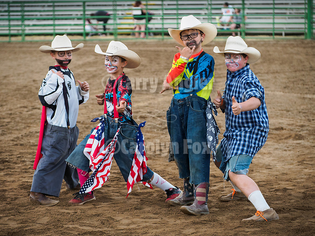 Mutton Bustin' and the junior Rodeo Clowns at the 79th Amador County Fair, Plymouth, Calif.<br /> <br /> <br /> #AmadorCountyFair, #PlymouthCalifornia,<br /> #TourAmador, #VisitAmador,