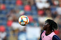 Football: Uefa European under 21Championship 2019, Italy - Spain Renato Dall'Ara stadium Bologna Italy on June16, 2019.<br /> Italy's Moise Kean during the warm up prior to the start <br /> of the Uefa European under 21 Championship 2019 football match between Italy and Spain at Renato Dall'Ara stadium in Bologna, Italy on June16, 2019.<br /> UPDATE IMAGES PRESS/Isabella Bonotto