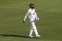 Murali Vijay of Essex leaves the field having been dismissed for 100 during Nottinghamshire CCC vs Essex CCC, Specsavers County Championship Division 1 Cricket at Trent Bridge on 13th September 2018