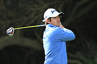 Darius Van Driel (NED) on the 8th tee during Round 2 of the Challenge Tour Grand Final 2019 at Club de Golf Alcanada, Port d'Alcúdia, Mallorca, Spain on Friday 8th November 2019.<br /> Picture:  Thos Caffrey / Golffile<br /> <br /> All photo usage must carry mandatory copyright credit (© Golffile | Thos Caffrey)
