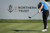 Tommy Fleetwood (ENG) during the third round of the Northern Trust played at Liberty National Golf Club, Jersey City, New Jersey, USA. 10/08/2019<br /> Picture: Golffile | Phil Inglis<br /> <br /> All photo usage must carry mandatory copyright credit (© Golffile | Phil Inglis)