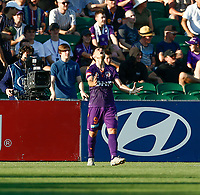 11th January 2020; HBF Park, Perth, Western Australia, Australia; A League Football, Perth Glory versus Adelaide United; Bruno Fornaroli Mezza of Perth Glory reacts to missing a good goal scoring chance - Editorial Use
