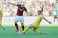 Edin Dzeko Aleandro Rosi during italian serie a soccer match between Frosinone e Roma