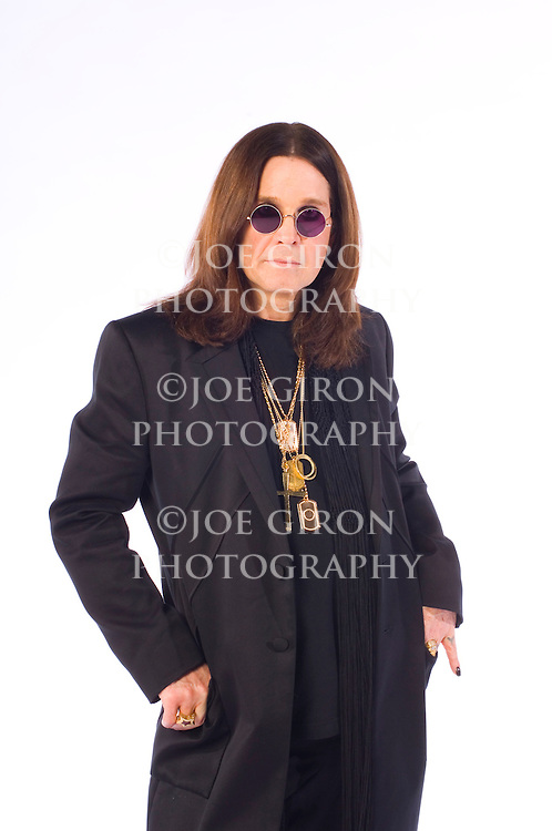 "Portrait session with Ozzy Osbourne. The shoot was done to promote Osbourne's new CD, ""Black Rain,"" which was released 5/22/07."