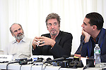 Director Daniel Sullivan, Al Pacino, Bobby Cannavale attending the 'Glengarry Glen Ross' Media Day at Ballet Hispanico Rehearsal Studios in New York City on 9/19/2012.