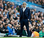 Manuel Pellegrini manager of Manchester City during the Barclays Premier League match at The Etihad Stadium. Photo credit should read: Simon Bellis/Sportimage