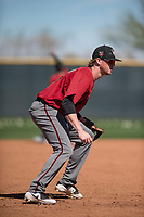 Arizona Diamondbacks third baseman Marty Herum (37) takes infield practice during Spring Training Camp at Salt River Fields at Talking Stick on March 12, 2018 in Scottsdale, Arizona. (Zachary Lucy/Four Seam Images)