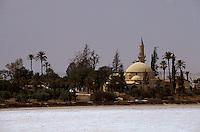 Zypern (Süd), Hala Sultan Tekke Moschee m Salzsee bei Larnaka