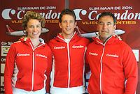 SCHAATSEN: HEERENVEEN: Thialf, 03-05-2013, Persconferentie Team Corendon, trainer/coach Renate Groenewold, Jan Blokhuijsen, trainer/coach Jan van Veen, ©foto: Martin de Jong