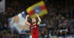 Jordan Henderson of Liverpool celebrates after the Champions League playoff round at the Anfield Stadium, Liverpool. Picture date 23rd August 2017. Picture credit should read: Lynne Cameron/Sportimage