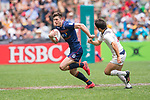 USA vs Scotland during their Pool D match as part of the HSBC Hong Kong Rugby Sevens 2017 on 08 April 2017 in Hong Kong Stadium, Hong Kong, China. Photo by Marcio Rodrigo Machado / Power Sport Images