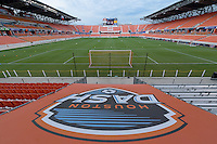 Houston, TX - Thursday Aug. 18, 2016: BBVA Compass Stadium prior to a regular season National Women's Soccer League (NWSL) match between the Houston Dash and the Washington Spirit at BBVA Compass Stadium.