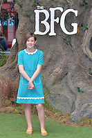 Ruby Barnhill attends the 'The BFG' UK Premiere at the Odeon Leicester Square in London, England. 17th July 2016.<br /> CAP/JWP<br /> &copy;JWP/Capital Pictures /MediaPunch ***NORTH AND SOUTH AMERICAS ONLY***