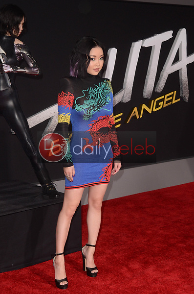"Lana Condor<br /> at the ""Alita Battle Angel"" Premiere, Village Theater, Westwood, CA 02-05-19<br /> David Edwards/DailyCeleb.com 818-249-4998"