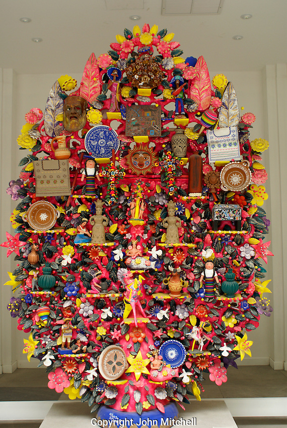Arbol de los Artesanos sculpture by Alfonso Seteno in the Museum of Popular Art, Mexico City. The Museo de Arte Popular, which opened in 2006, showcases folk art from all of Mexico's 31 states.